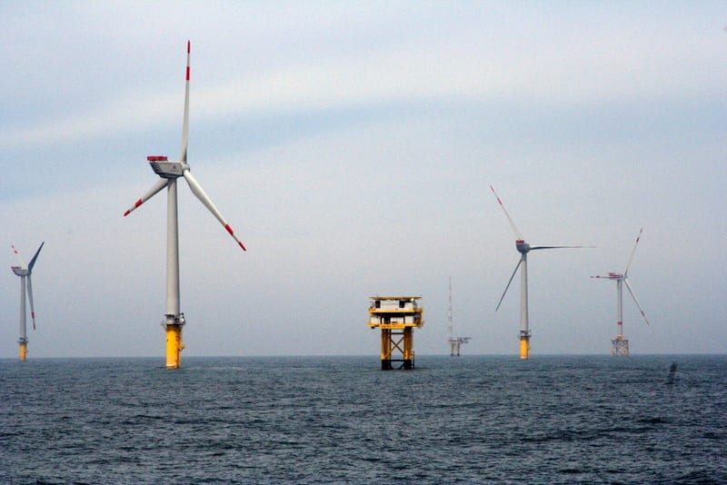 Offshore Wind Energy - Wind Turbines in Water