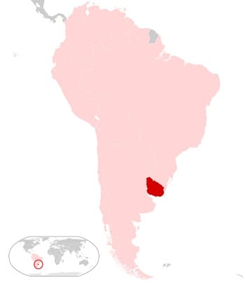 Map of Uruguay - Renewable Energy