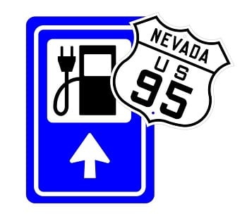 Electric Car Charging Station - Nevada U.S. Highway 95