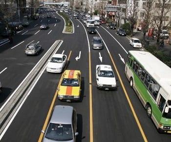 hydrogen fuel - Cars on road in Tokyo