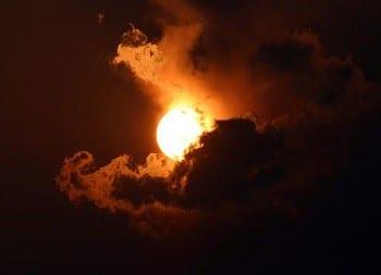 Solar Energy - Sun in clouds