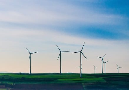 Florida Wind Energy - Wind Turbines in Field