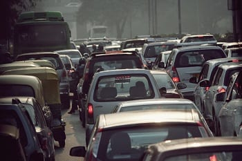 Fuel Cell Vehicles - Vehicles on busy street in India