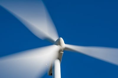 Wind Energy and Hydrogen Fuel Production - Spinning Wind Turbine
