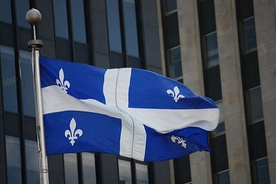 Fuel Cell Vehicle coming to Quebec - Flag of Quebec