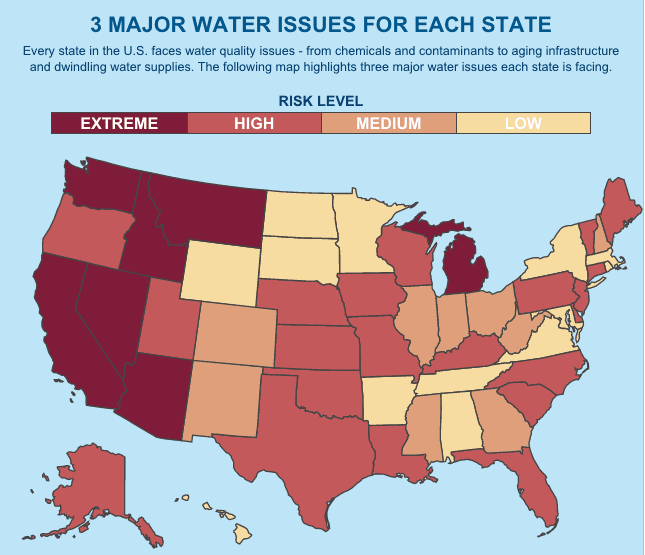 Pelican Water Creates Interactive Map To Assess Water Quality Risks By State