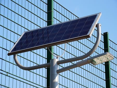 Solar Energy - Solar Panel on Pole