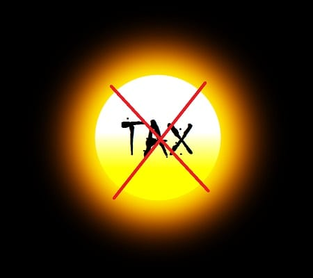 Solar Energy - No more Tax