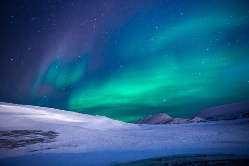 Climate Change - Image of Northern Light in the Arctic
