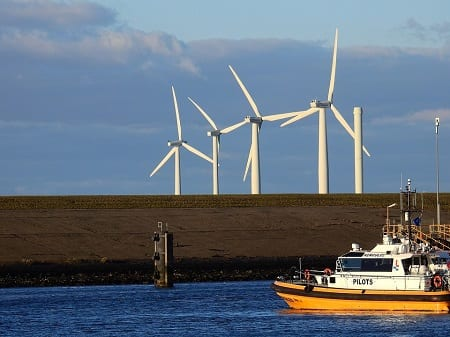 Offshore Wind Energy - Turbines near water