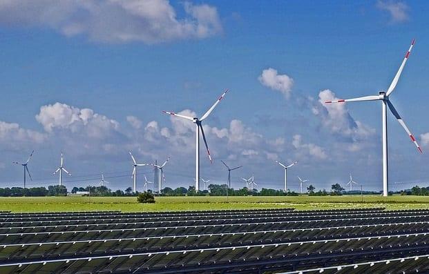 Renewable Energy - Solar and Wind Farm