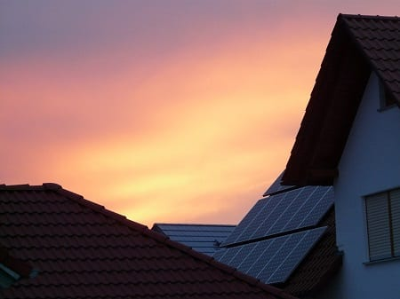 Solar Energy Market - Solar panels on roofs of homes