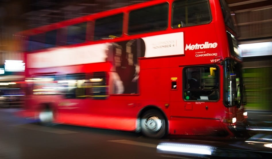 Fuel Cell Bus - Image of double decker bus in London