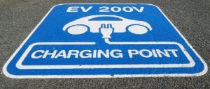 EV battery recycling - Sign for EV Charging Station
