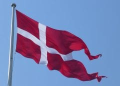 Wind Energy - Denmark Flag Blowing In Wind