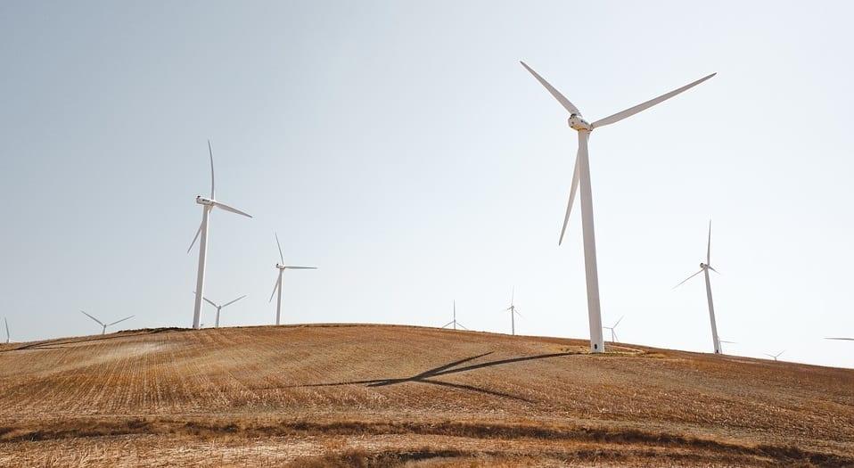 Wind Energy - Turbines in Field
