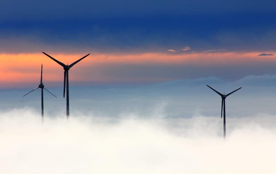 Wind Energy - Turbines in Fog