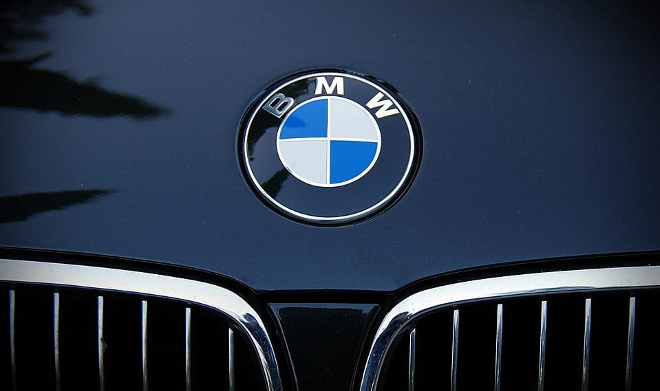 Hydrogen Fuel Cells - BMW logo on vehicle