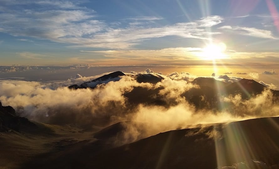 Solar Energy - Sunrise in Hawaii