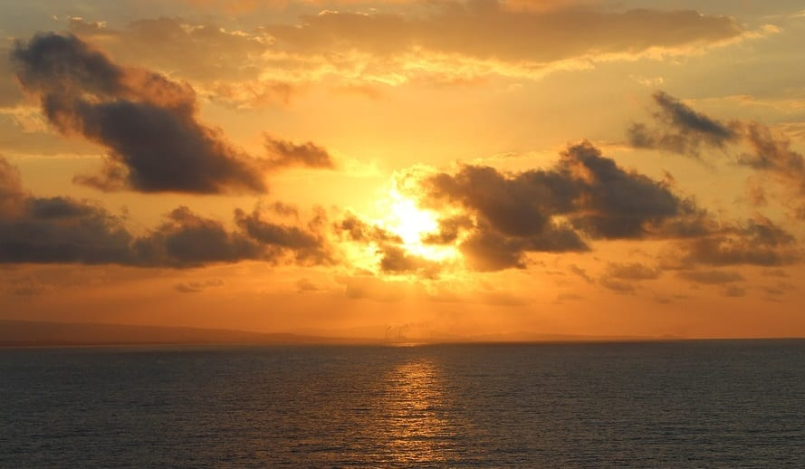 Solar Energy - Sunset at Sea in Florida