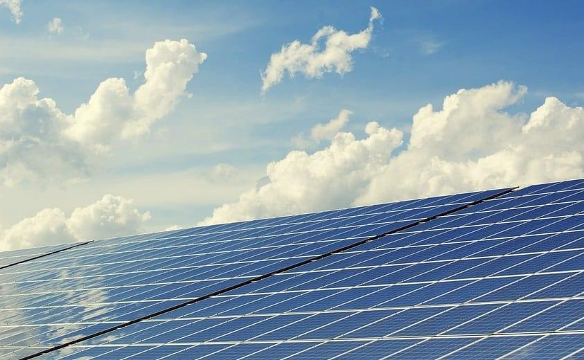 Solar Farm - Solar Panels and Sky