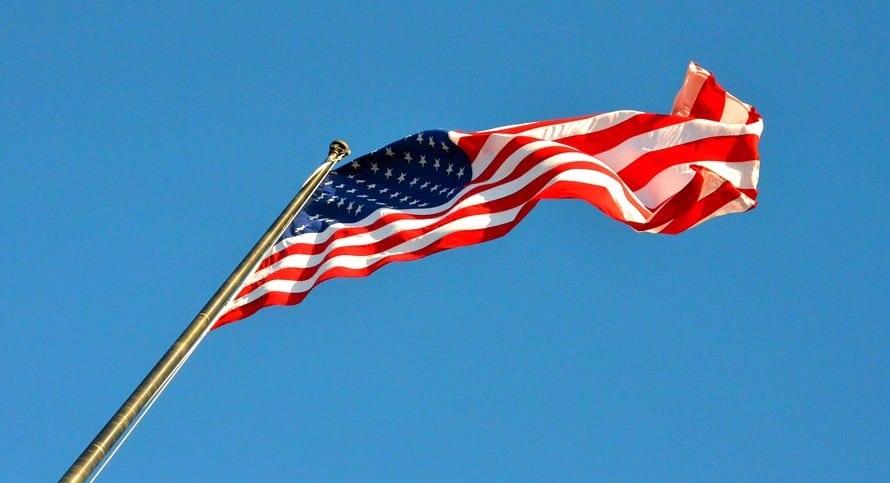 US Wind Energy - American Flag