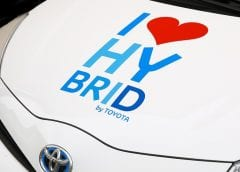 Hydrogne Fuel Cells - Hybrid Toyota Car