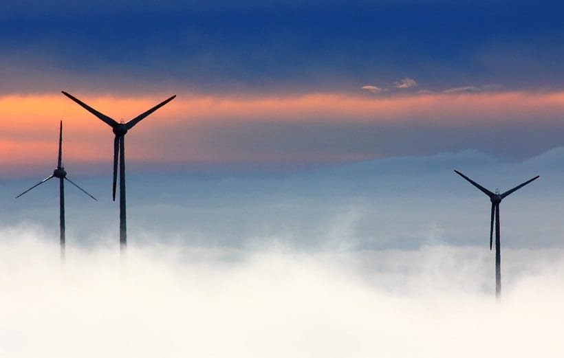 Wind Energy - Wind Turbines and Clouds
