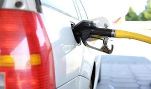 H2 fuel station - Car refueling at Gas Station