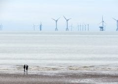 Offshore Wind Farms - Wind Turbines on water off coast