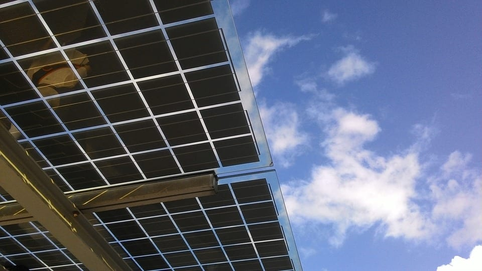 Solar Energy - Underside of solar panels