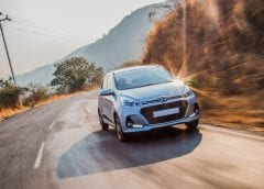 Fuel Cell Vehicles - Hyundai Car Driving on Road