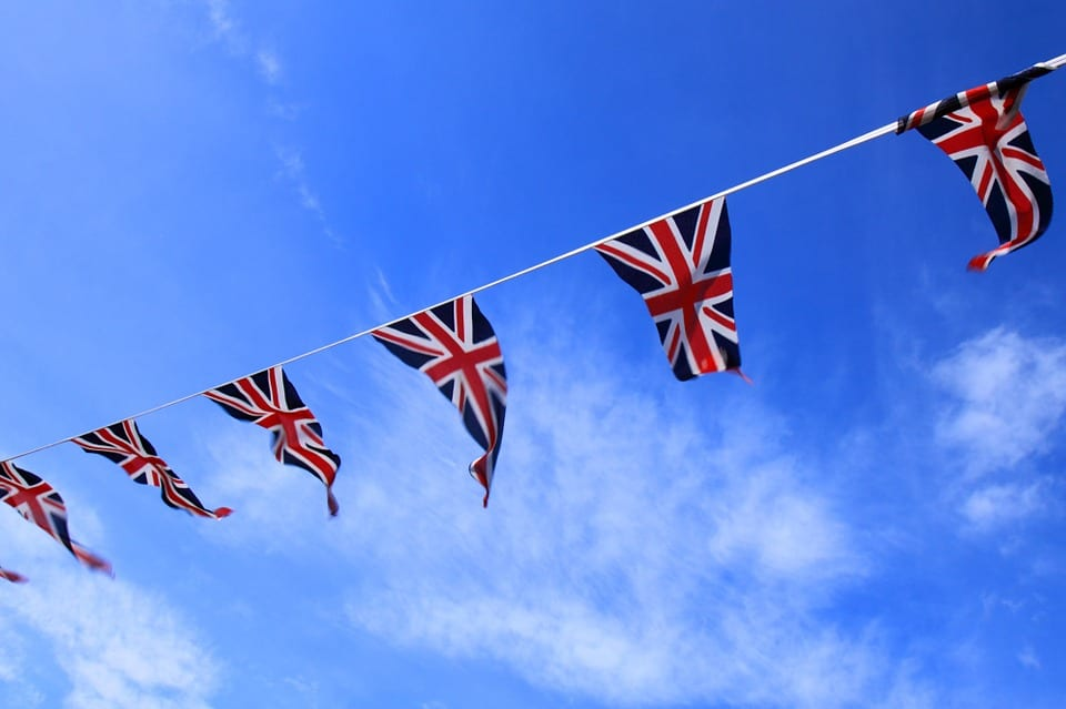 Renewable Energy Banner of UK Flag