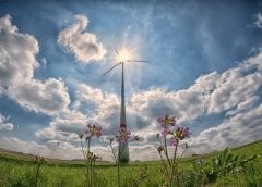Renewable Energy - Solar, Wind and a green field