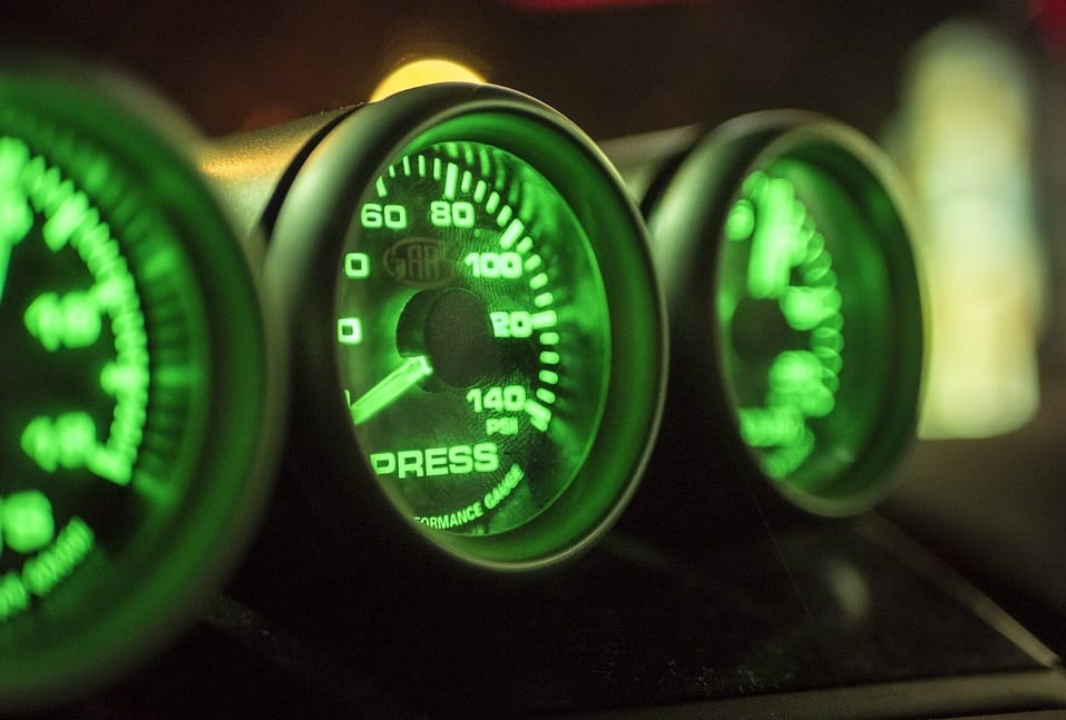 Electric Vehicles - Image of Dashboard Gauges