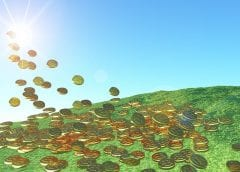 Solar Energy Investment - Sunshine and coins