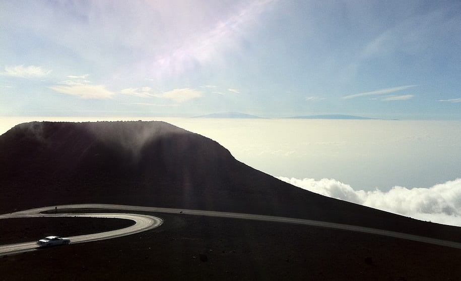 Hydrogen Fuel - Mountain Road in Hawaii