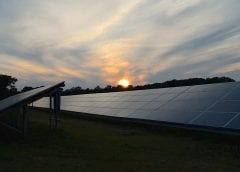 Solar Energy Projects - Solar Farm at Sunset