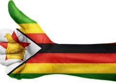 Support for Zimbabwe Wind Energy Study - Zimbabwe flag on arm