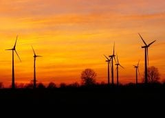 Wind Energy - Wind Turbines at Sunset