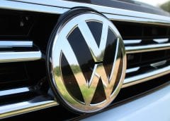 Electric Vehicles - Volkswagen Logo on Vehicle