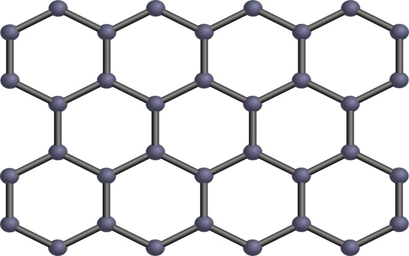 Fuel Cells Material - Image of Graphene Structure