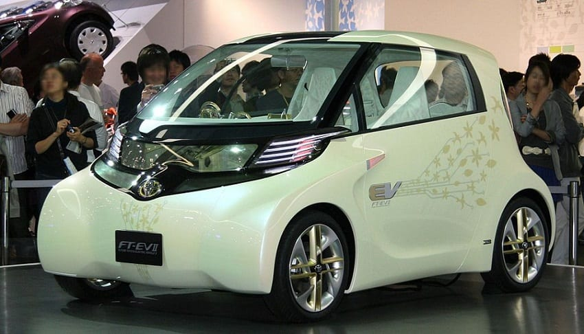 Clean Vehicles -Toyota FT-EV II on display at Tokyo Motor Show