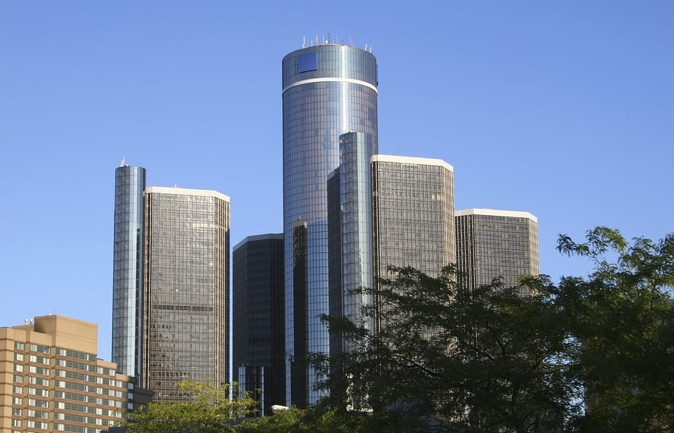 General Motors Building in Detroit - fuel cells