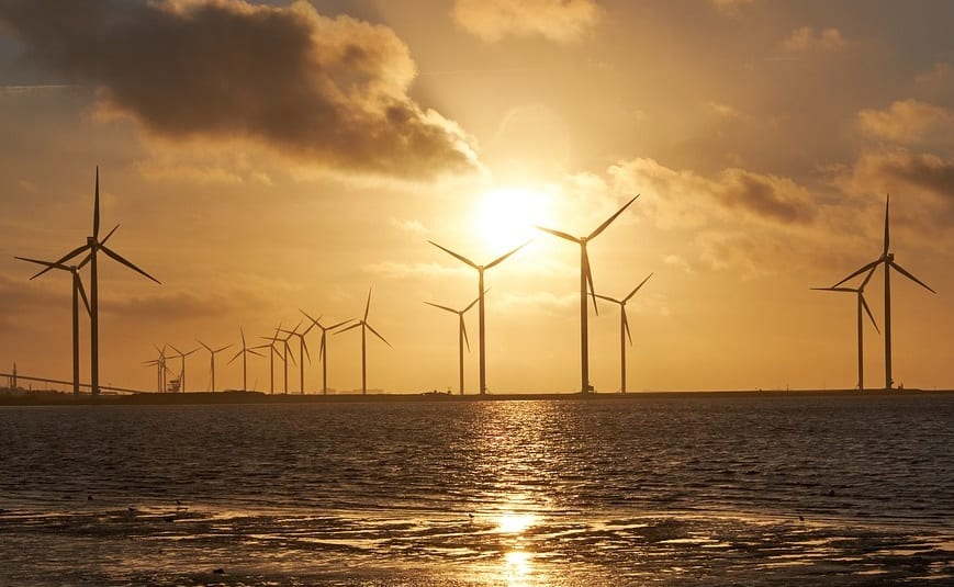 Offshore Wind Energy - Wind Turbines and ocean