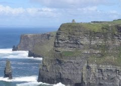 Offshore wind energy - cliffs in Ireland