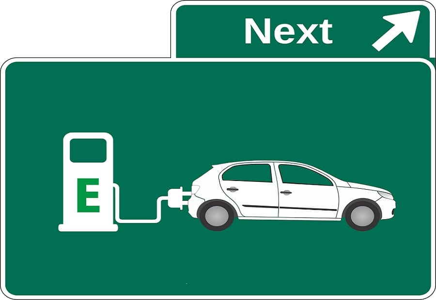 Plans for Electric Vehicles - Sign for EV charging station