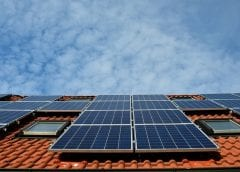 Solar Panels on Rool - Solar Energy reaching toward the sky