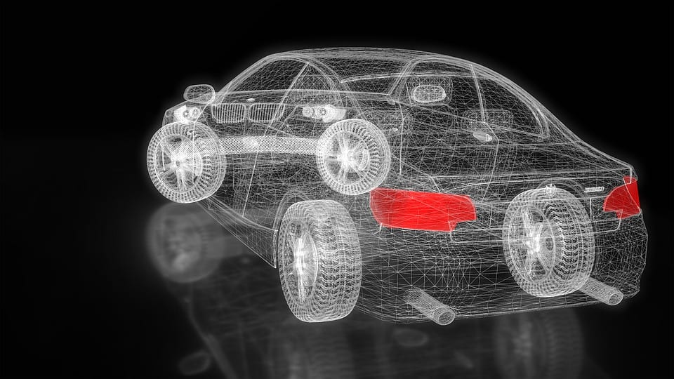 Clean Vehicles in need of support - three dimensional view of car