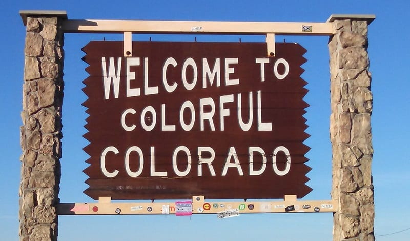 Colorado Clean Vehicles - Colorado Welcome Sign